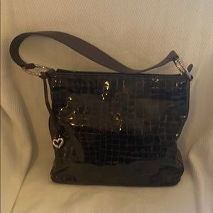 Brighton Chocolate Croco Handbag
